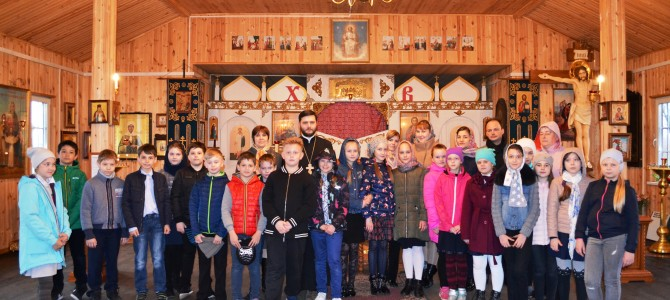Учащиеся 4-х классов школы №2065 посетили  храм святого  Андрея Боголюбского